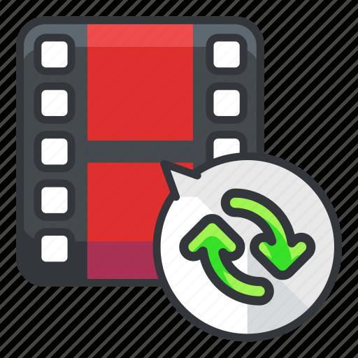 arrow, arrows, file, files, refresh, video icon