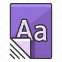 alphabet, document, file, files, text icon
