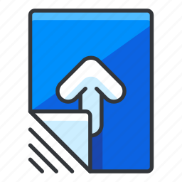 arrow, file, files, up, upload icon