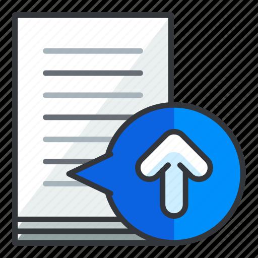 arrow, document, file, files, upload icon