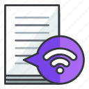 document, file, files, internet, wifi, wireless icon