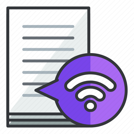 document, file, files, internet, wifi, wireless icon