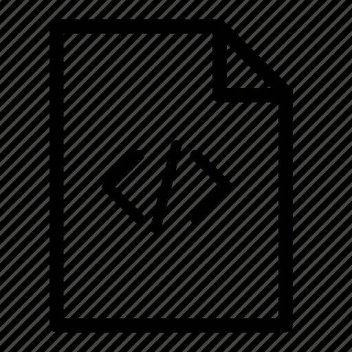 code, code file, file, files icon