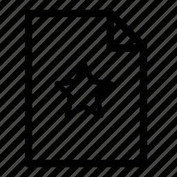 favourite, file, file favourite, files icon