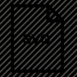 file, files, svg file icon