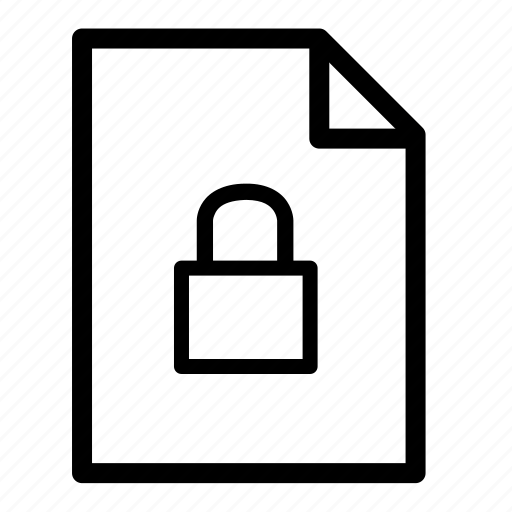 file, file lock, files, secure icon