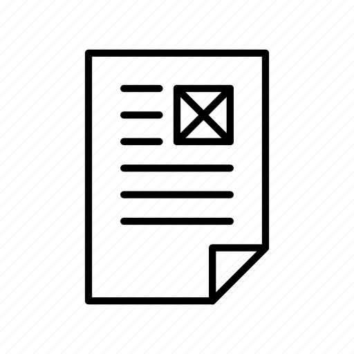 document, extension, file, format, paper icon