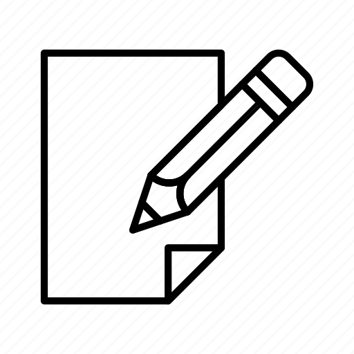 document, edit, extension, file, format, paper, pencil icon
