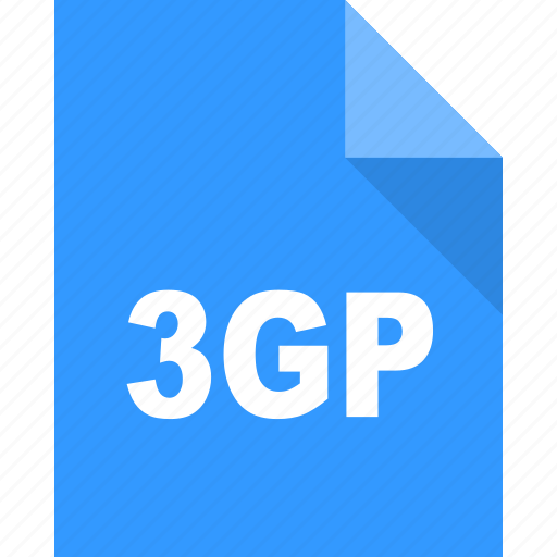 3gp, document, file, format, page, paper icon