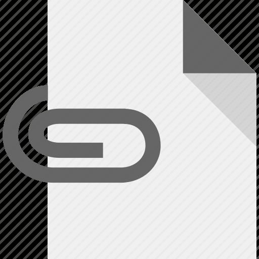 attachment, document, file, page, paper icon