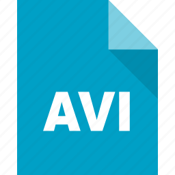 avi, document, file, format, page, paper icon