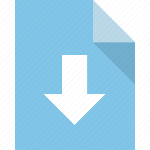 document, download, file, import, page, paper icon