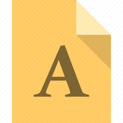 document, file, font, page, paper icon