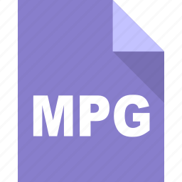 document, file, format, mpg, page, paper icon