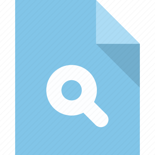 document, file, page, paper, search icon