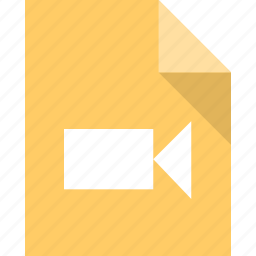document, file, page, paper, video icon