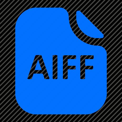 aiff, file, format icon