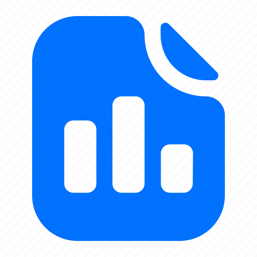 bar, chart, file, format icon