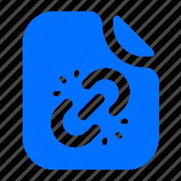 broken, file, format, link icon