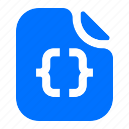 code, file, format icon