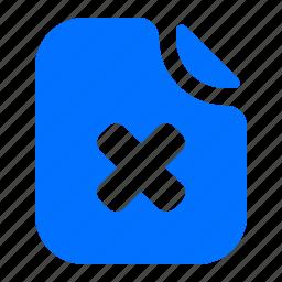 delete, file, format, remove icon