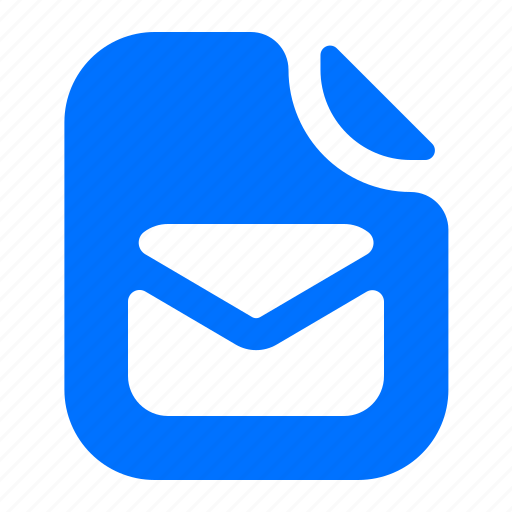 email, file, format, message icon