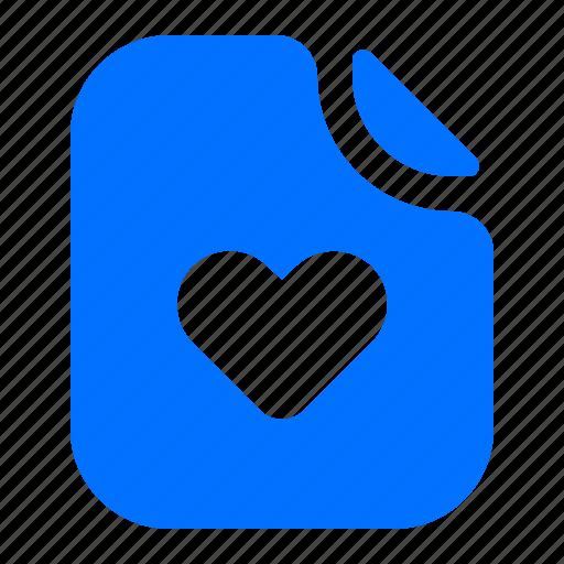 favourite, file, format, heart icon