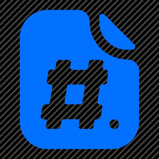 file, format, hashtag icon