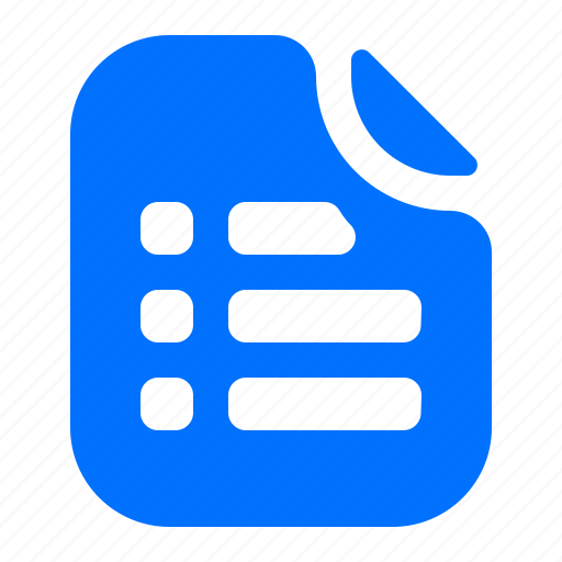 file, format, list icon