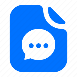 file, format, message, text icon