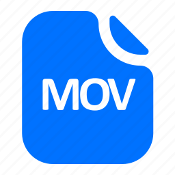 file, format, mov, video icon