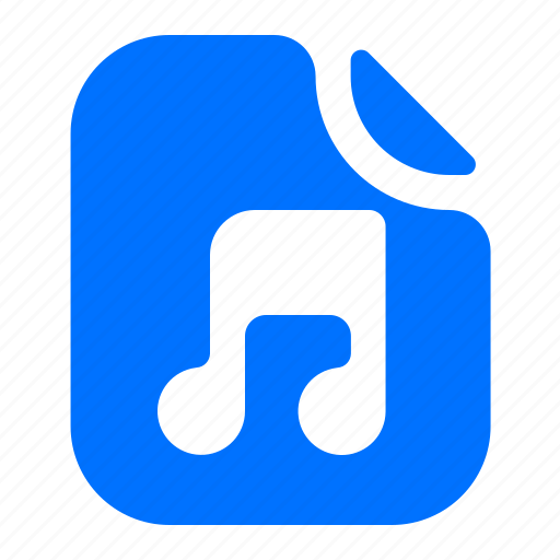 audio, file, format, music icon