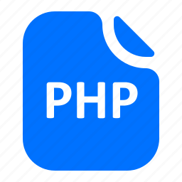file, format, php icon
