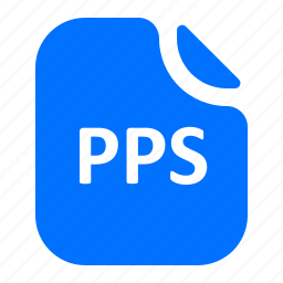 file, format, pps icon