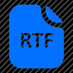 file, format, rtf, text icon