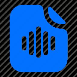 audio, file, format, specific icon