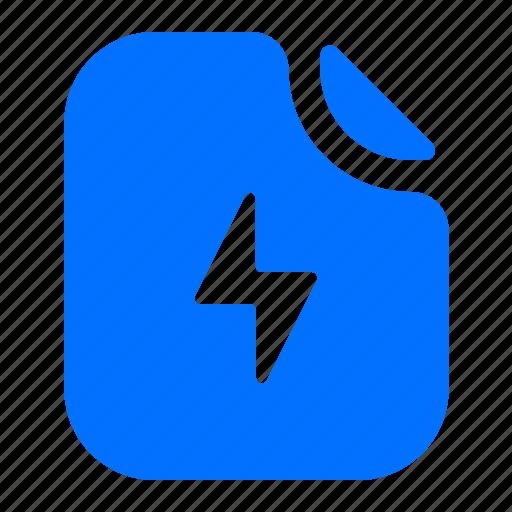 file, format, lightening, speed icon