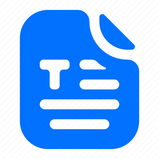 article, file, format, text icon
