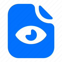 file, format, view, visible icon