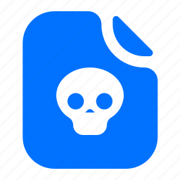 deadly, file, lethal, virus icon