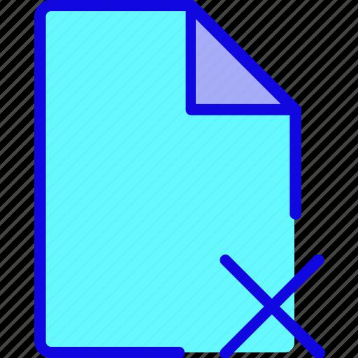 cancel, data, delete, document, file, page, remove icon