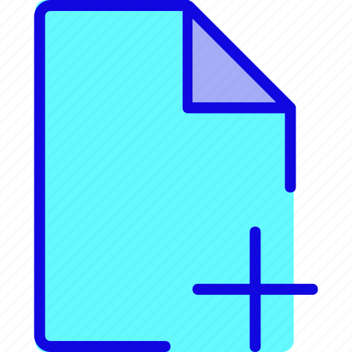 add, data, document, file, format, new, page icon