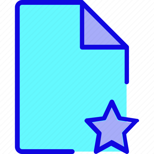 data, document, favorite, file, format, page, star icon