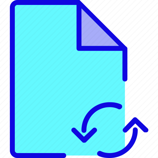 data, document, file, format, page, recycle, refresh icon