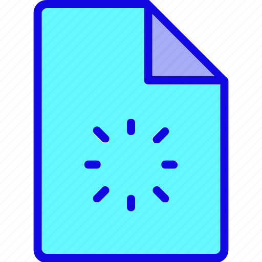 document, file, folder, page, refresh, reload, rotate icon