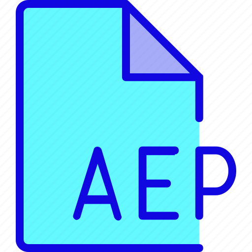 aep, document, file, file format, file type, format, type icon