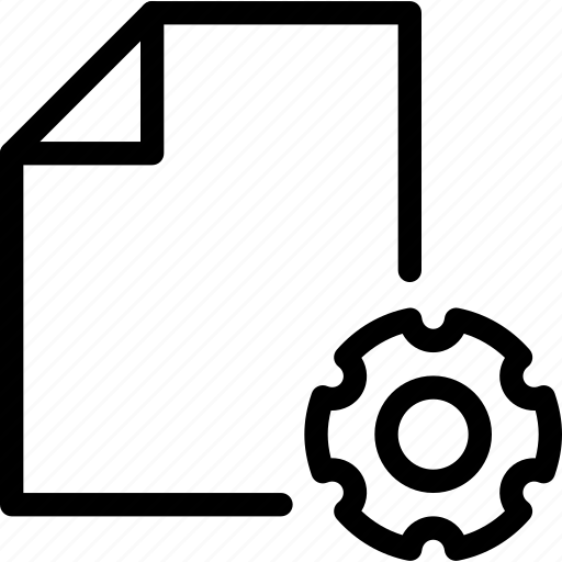 configuration, data, document, file, paper, settings icon