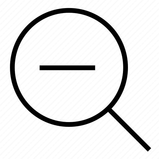 abroad, enlarge, magnifying glass, out, zoom, zoom out icon