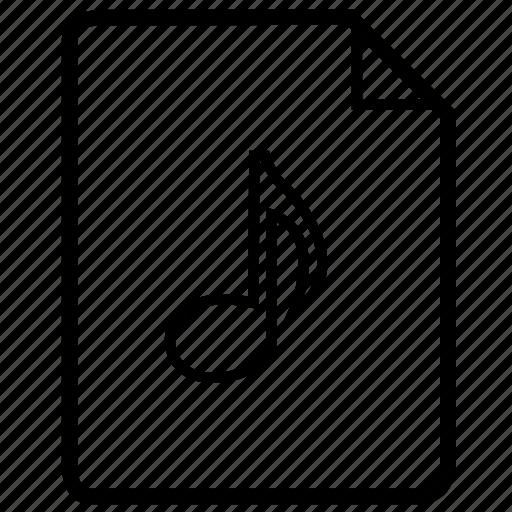 document, file, media, mp3, mp3 file, music file icon