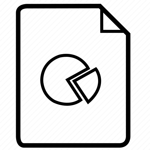 document, file, pie, pie chart, pie document, statistics icon